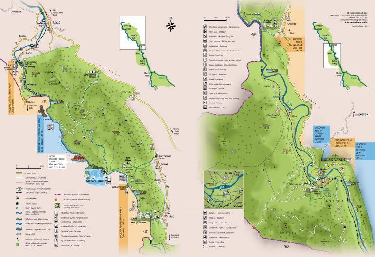 Mappa parco Una -1